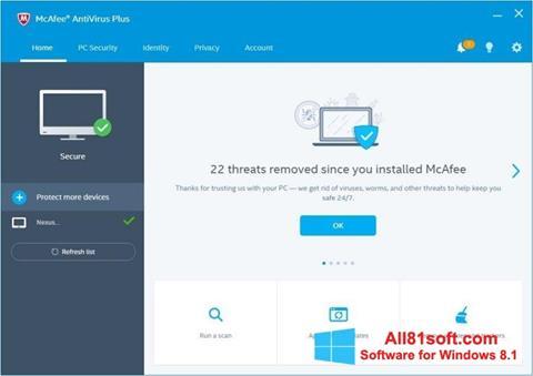 Download McAfee AntiVirus Plus für Windows 8.1 (32/64 bit