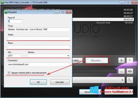Screenshot Free MP4 Video Converter für Windows 8.1