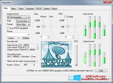 Screenshot AC3Filter für Windows 8.1