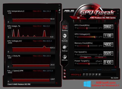 Screenshot ASUS GPU Tweak für Windows 8.1