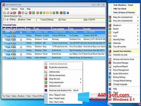 Screenshot Auto ShutDown für Windows 8.1