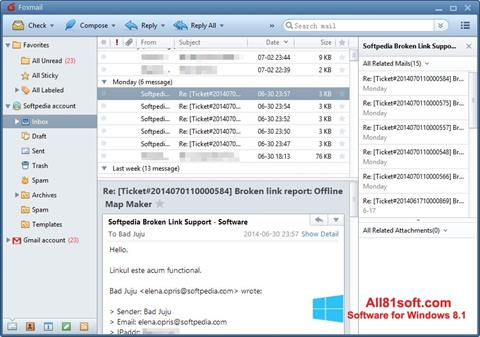 Screenshot FoxMail für Windows 8.1