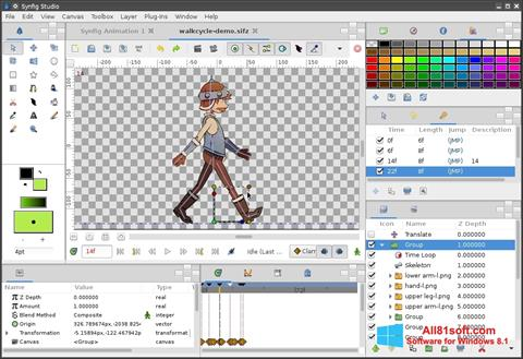 Screenshot Synfig Studio für Windows 8.1