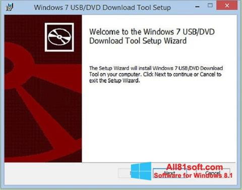Screenshot Windows 7 USB DVD Download Tool für Windows 8.1