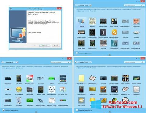 Screenshot 8GadgetPack für Windows 8.1