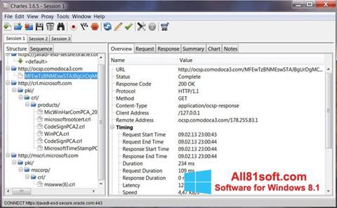 Screenshot Charles für Windows 8.1