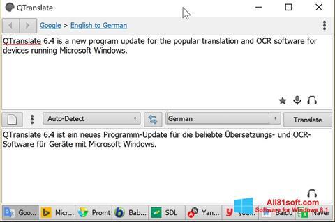 Screenshot QTranslate für Windows 8.1