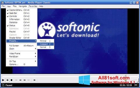 Screenshot Media Player Classic für Windows 8.1