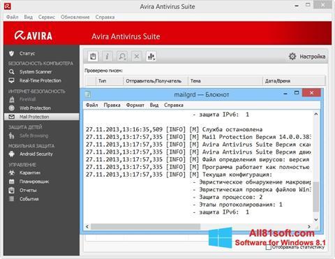 Screenshot Avira für Windows 8.1