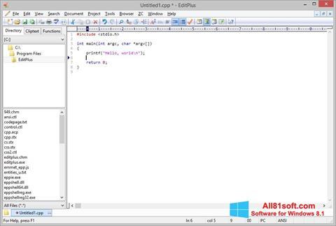 Screenshot EditPlus für Windows 8.1