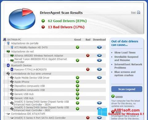 Screenshot DriverAgent für Windows 8.1