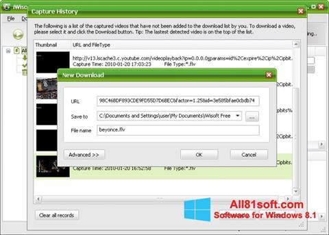 Screenshot Free Video Catcher für Windows 8.1