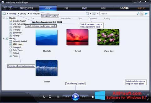 Screenshot Media Player für Windows 8.1