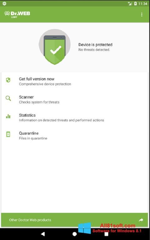 Screenshot Dr.Web Light für Windows 8.1