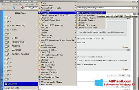 Screenshot AviSynth für Windows 8.1