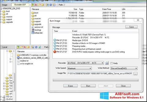 Screenshot UltraISO für Windows 8.1