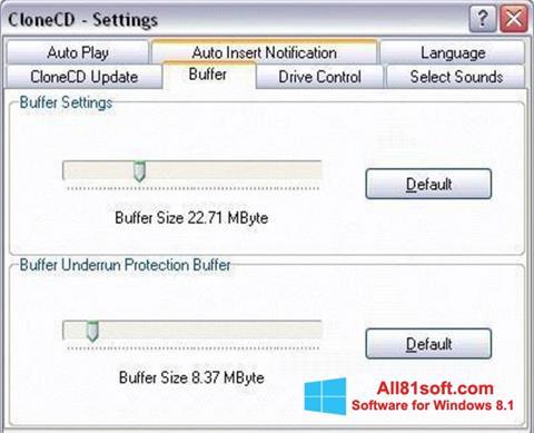 Screenshot CloneCD für Windows 8.1