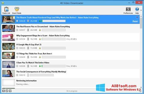 Screenshot 4K Video Downloader für Windows 8.1