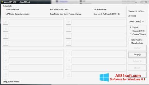 Screenshot AlcorMP für Windows 8.1