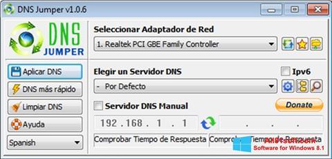 Screenshot DNS Jumper für Windows 8.1