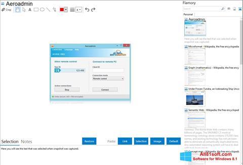 Screenshot AeroAdmin für Windows 8.1