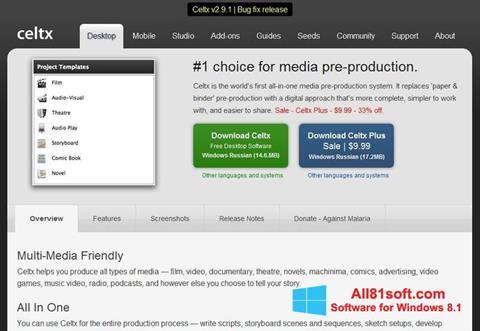 Screenshot Celtx für Windows 8.1