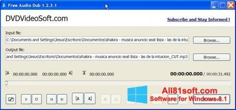 Screenshot Free Audio Dub für Windows 8.1