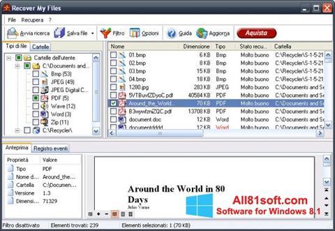 Screenshot Recover My Files für Windows 8.1