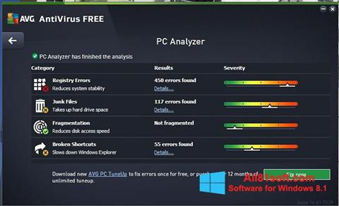 Screenshot AVG AntiVirus Free für Windows 8.1