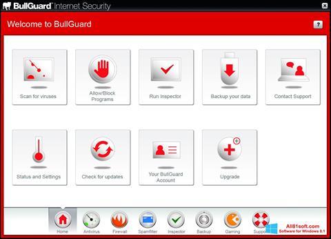 Screenshot BullGuard für Windows 8.1