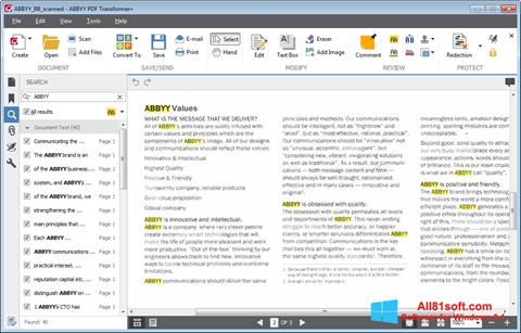 Screenshot ABBYY PDF Transformer für Windows 8.1