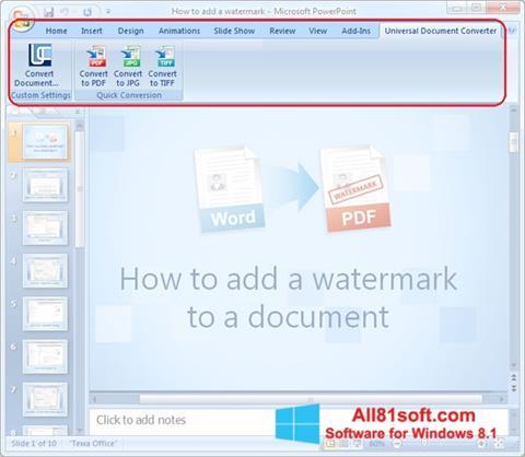 Screenshot Microsoft PowerPoint für Windows 8.1
