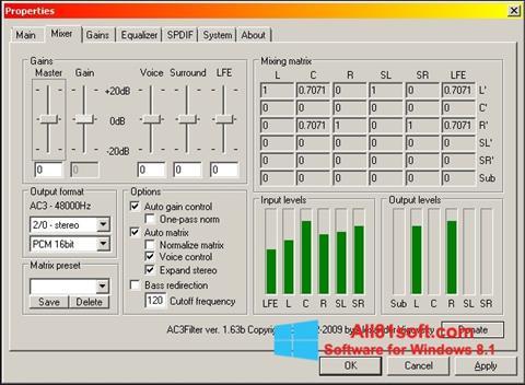 Screenshot AC3 Codec für Windows 8.1