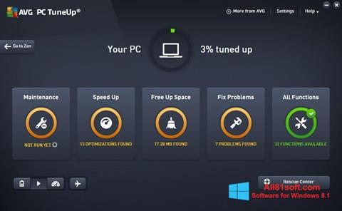 Screenshot AVG PC Tuneup für Windows 8.1