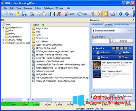 Screenshot Nero Burning ROM für Windows 8.1