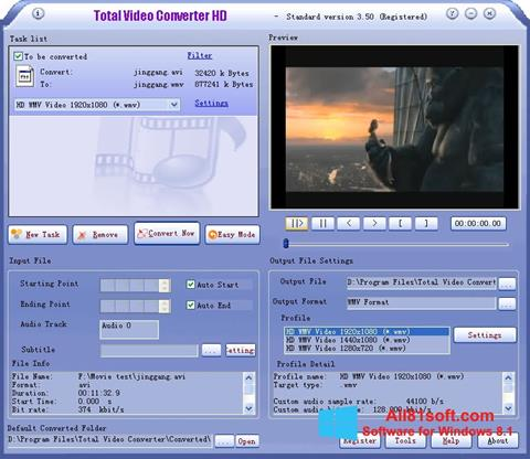 Screenshot Total Video Converter für Windows 8.1