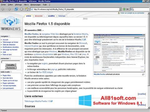 Screenshot Mozilla Firefox für Windows 8.1