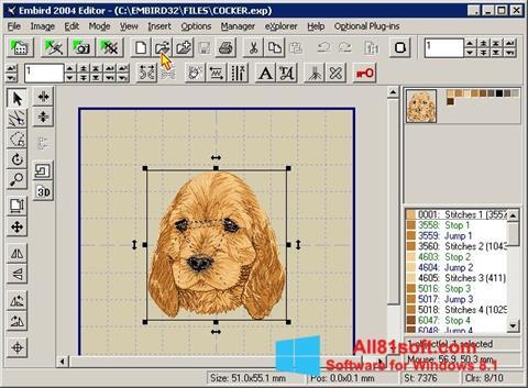 Screenshot Embird für Windows 8.1