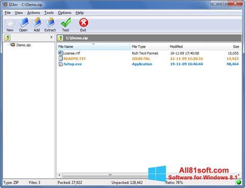 Screenshot IZArc für Windows 8.1