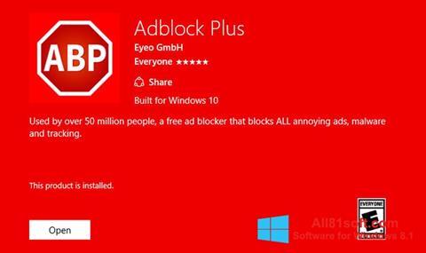 Screenshot Adblock Plus für Windows 8.1