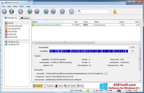 Screenshot qBittorrent für Windows 8.1
