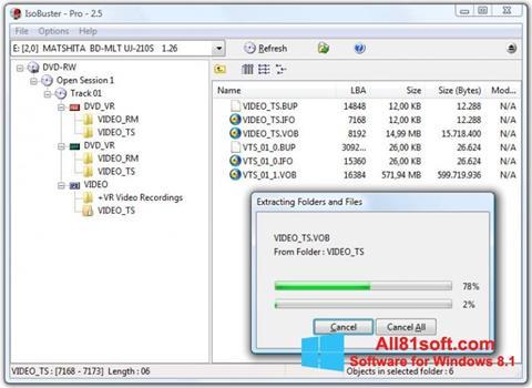 Screenshot IsoBuster für Windows 8.1