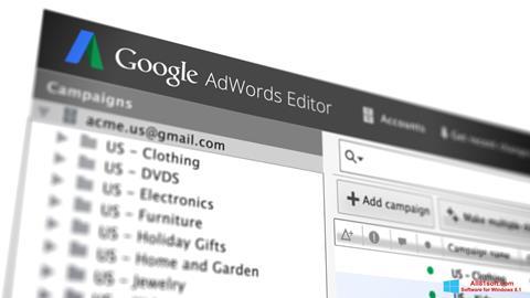 Screenshot AdWords Editor für Windows 8.1