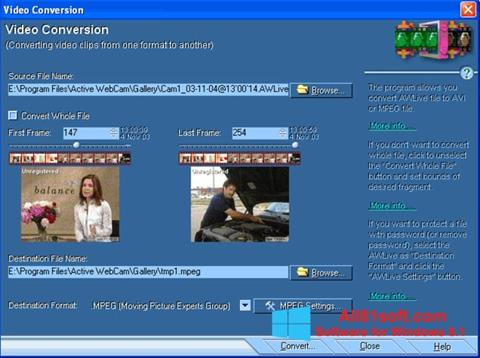 Screenshot Active WebCam für Windows 8.1