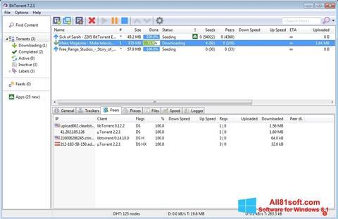Screenshot BitTorrent für Windows 8.1