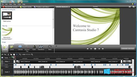 Screenshot Camtasia Studio für Windows 8.1