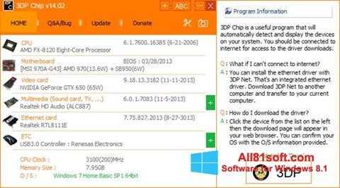Screenshot 3DP Net für Windows 8.1
