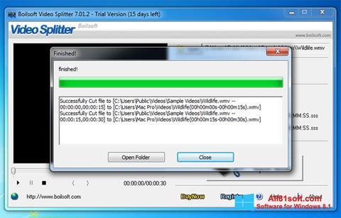 Screenshot Boilsoft Video Splitter für Windows 8.1