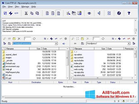 Screenshot Core FTP für Windows 8.1