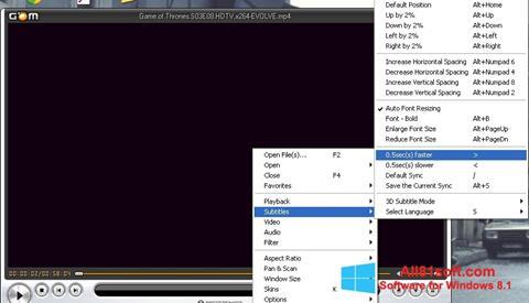 Screenshot GOM Player für Windows 8.1